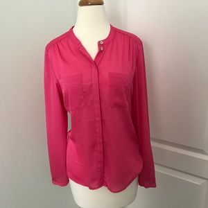 H & M Hot Pink Blouse Size 8
